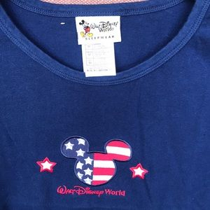 WDW Disney Mickey Mouse Americana Patriotic shirt
